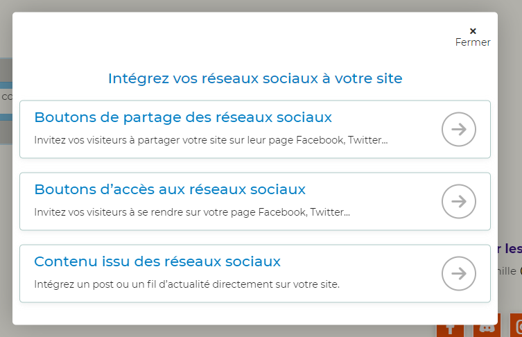 reseaux sociaux sitew