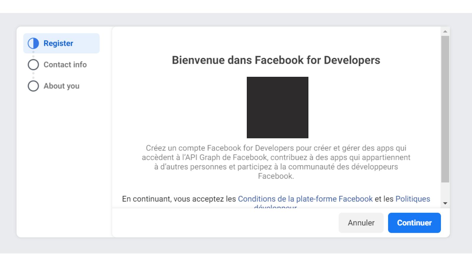facebook developpers