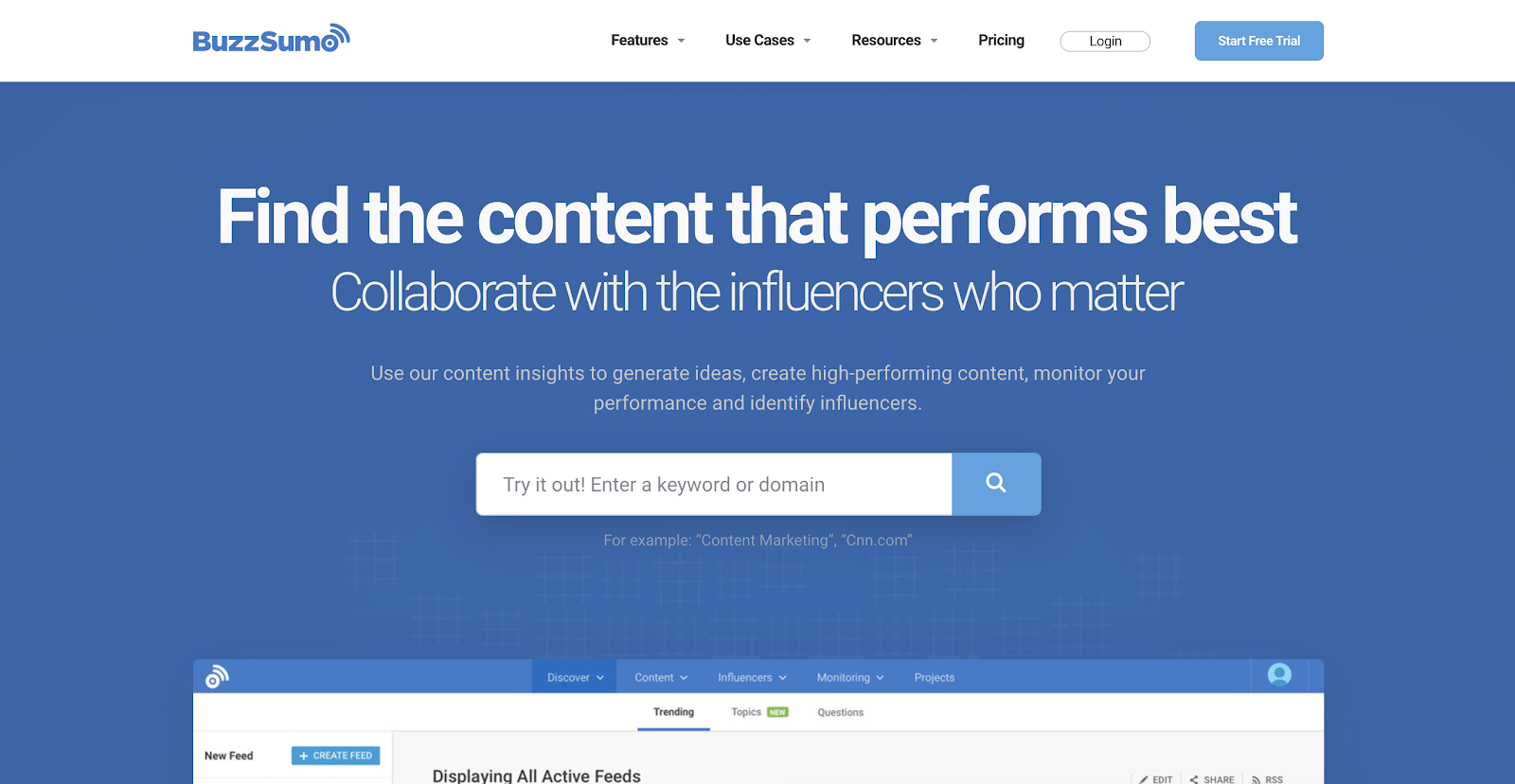 exemple outil buzzsumo
