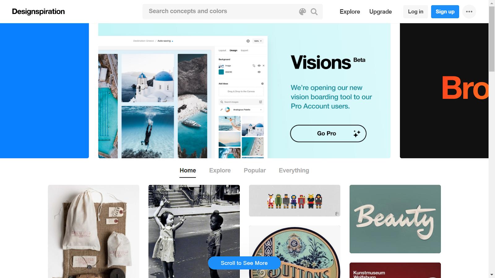 site design inspiration