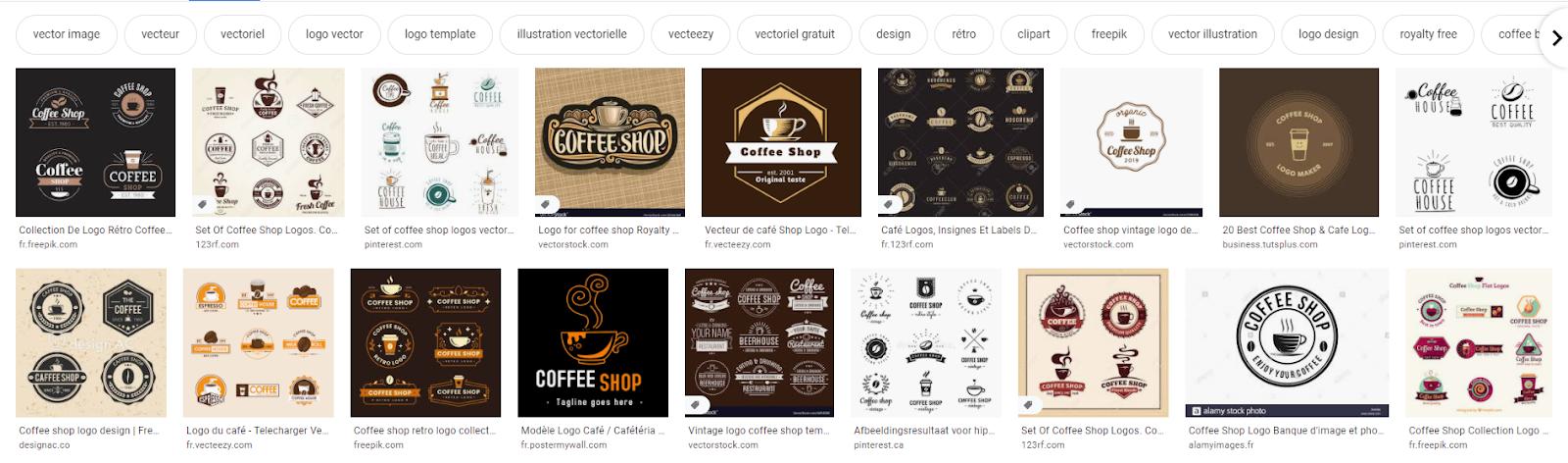exemple logos café