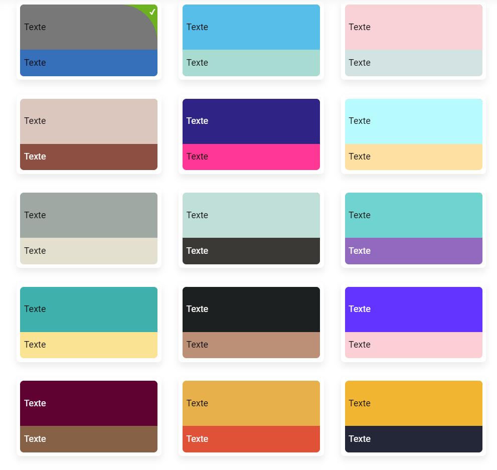 palette populaire sitew