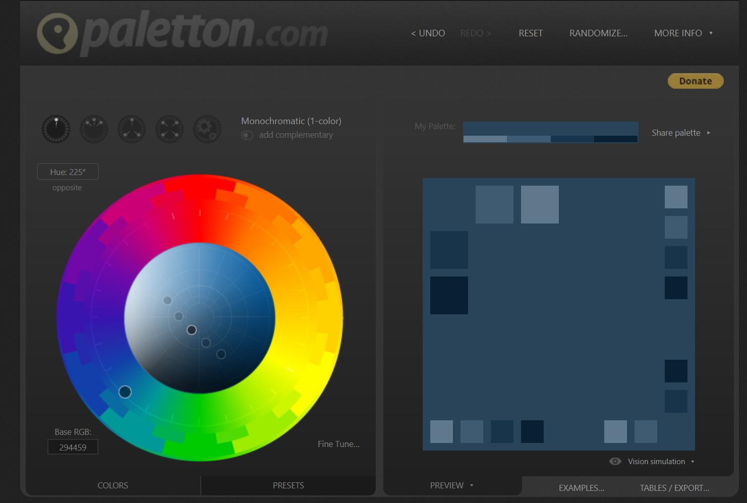 exemple site paletton