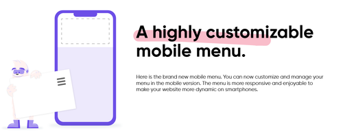 Customize and manage your mobile menu