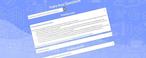 Create a website with a FAQ block