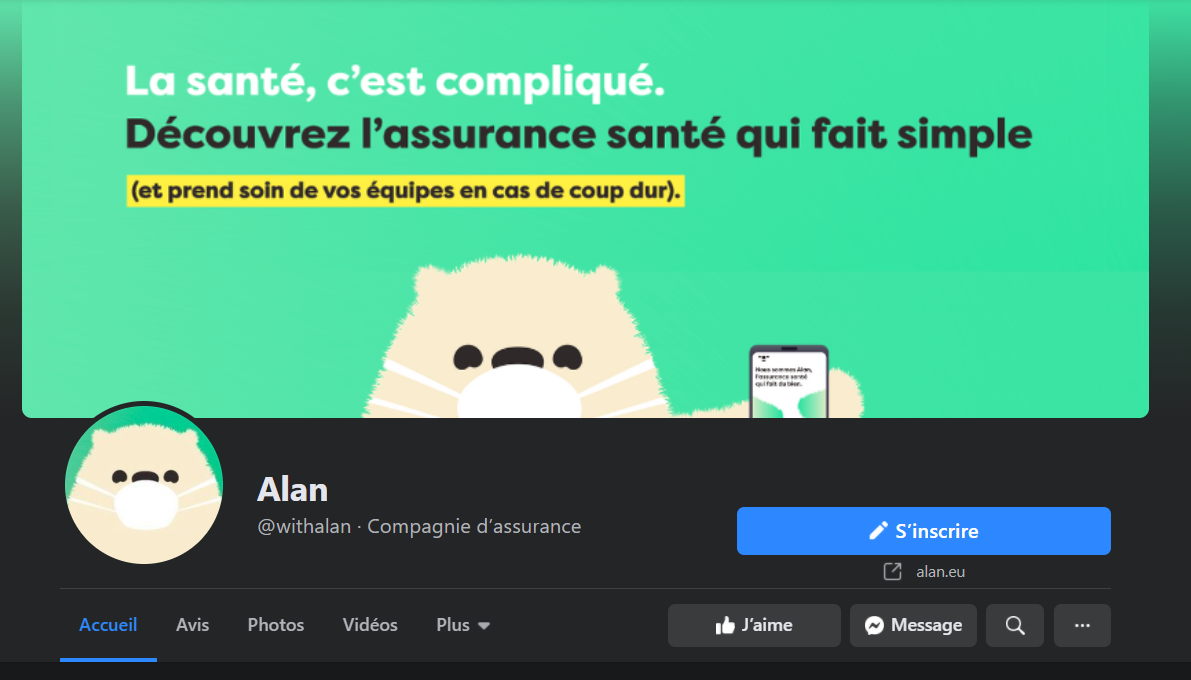 page facebook alan