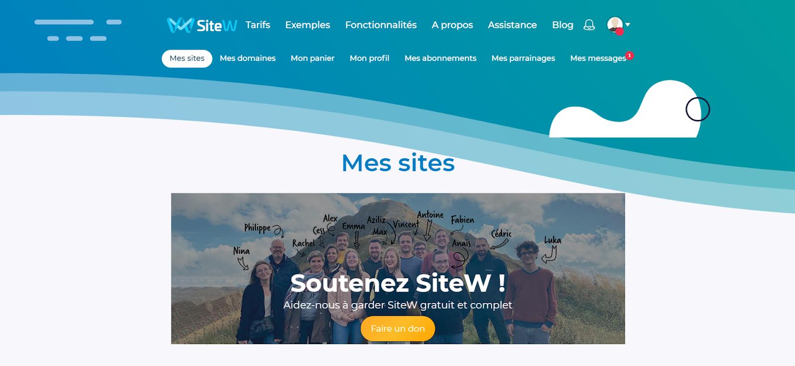 mes sites sitew