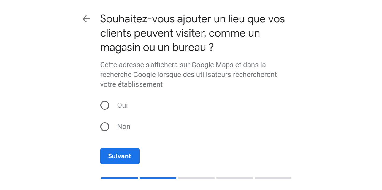 Adresse physique Google Maps