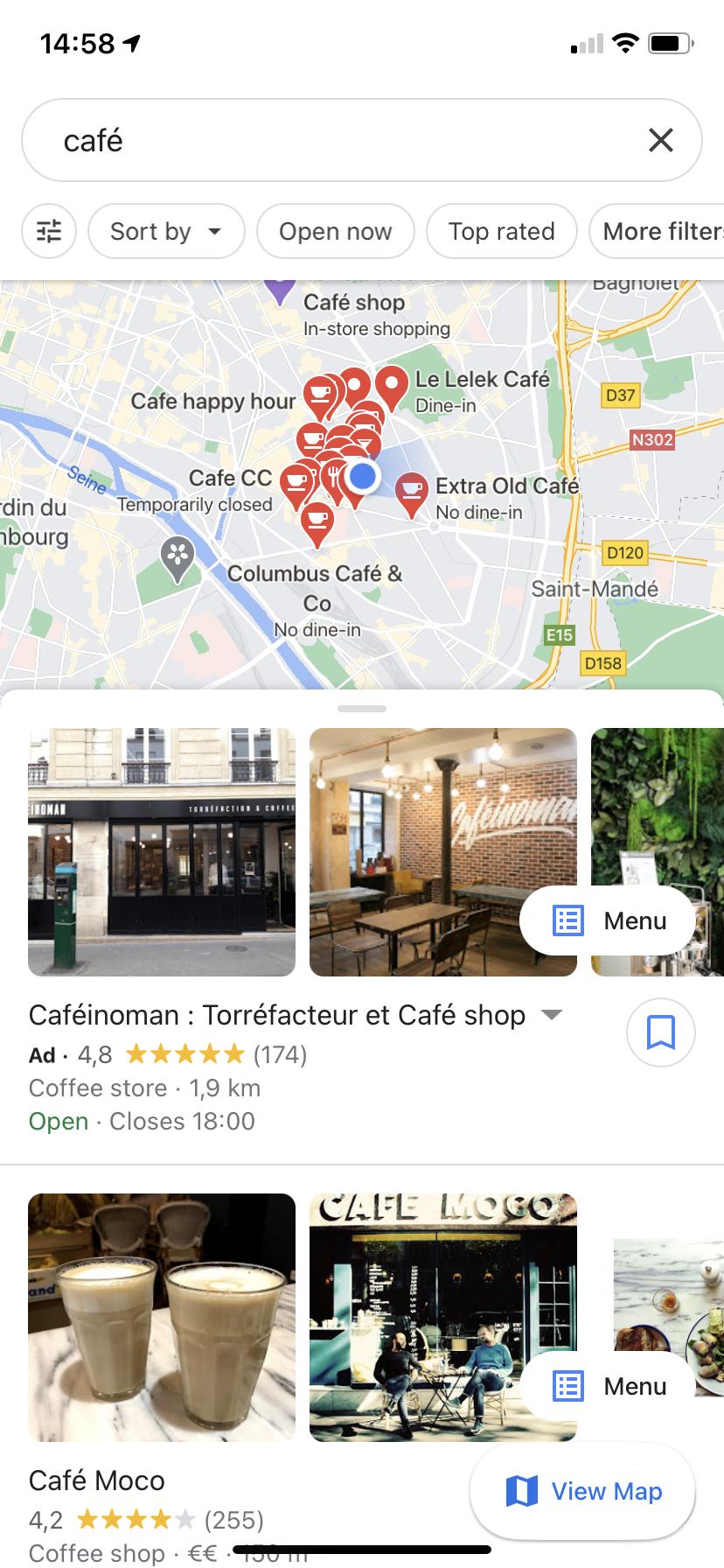 Google Maps appli