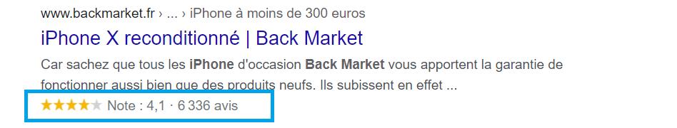 extraits d'avis google back market exemple