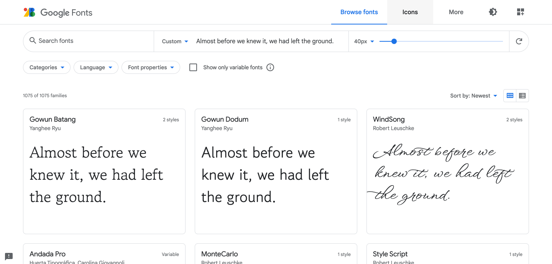 Typographie portfolio