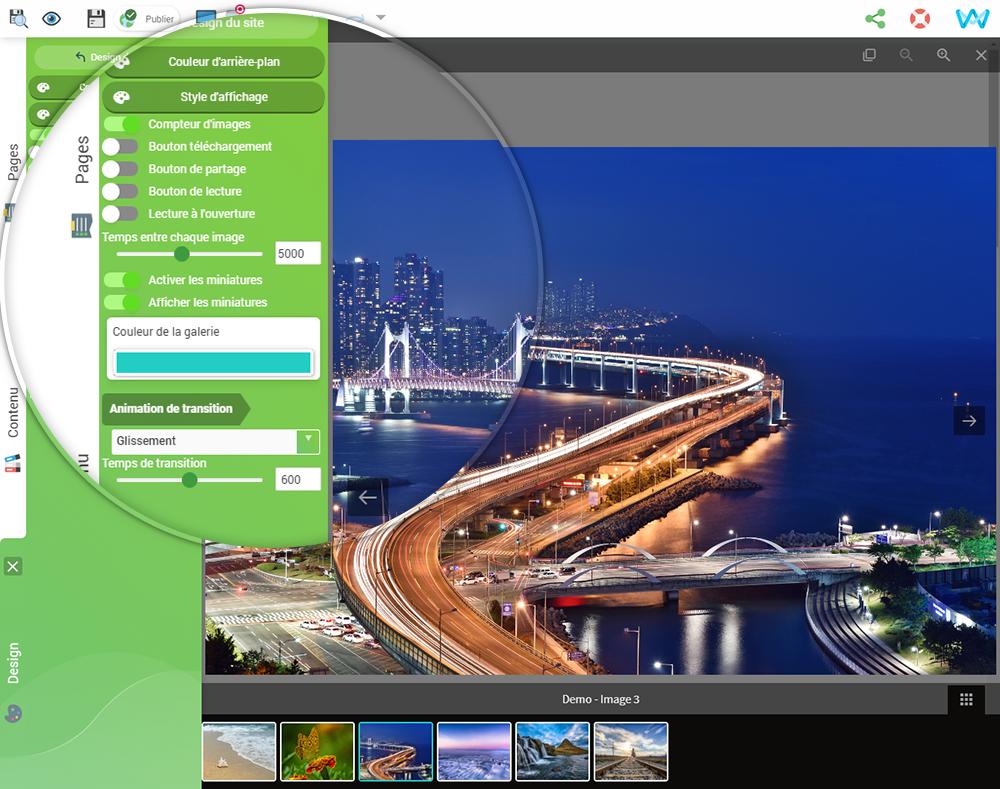 Outils pour créer un site avec galerie plein écran