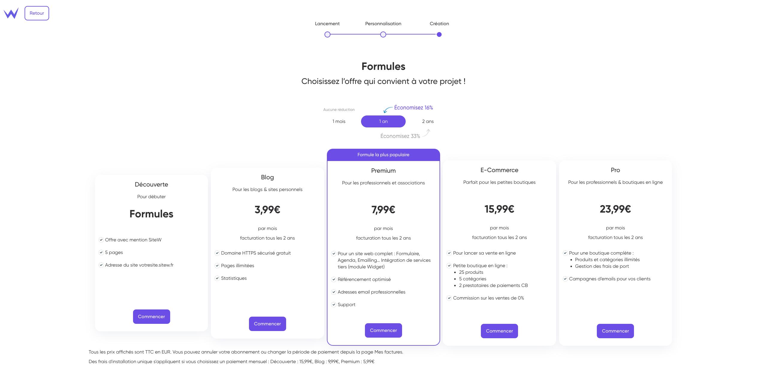 formules creation site