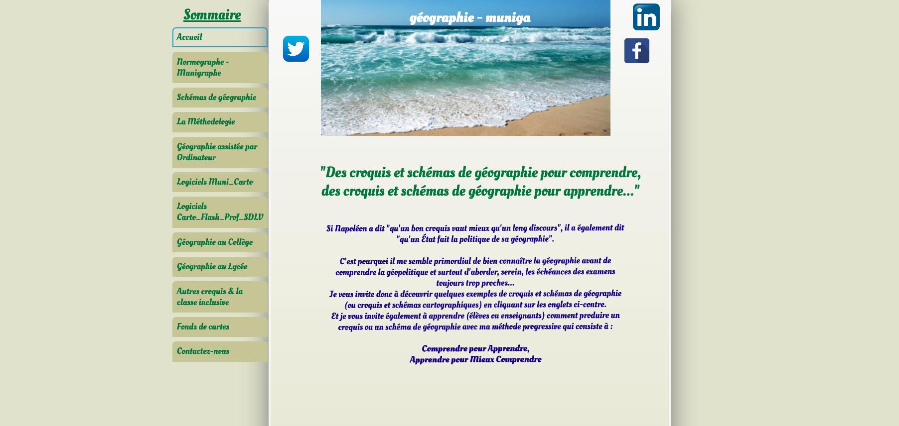 site client geographie