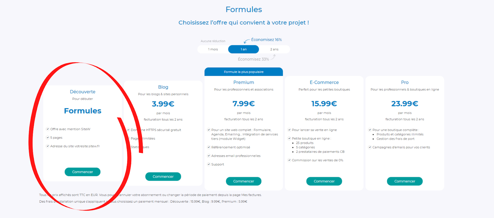 formules sitew