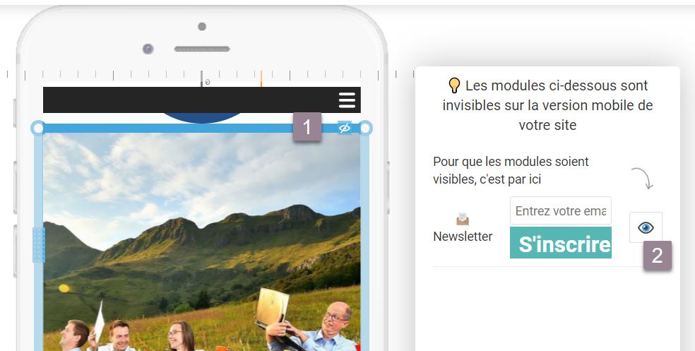 exemple visibilité modules