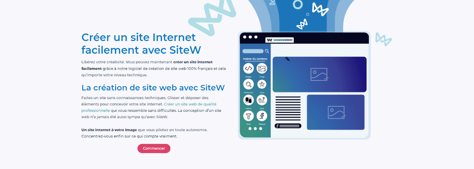 page accueil sitew