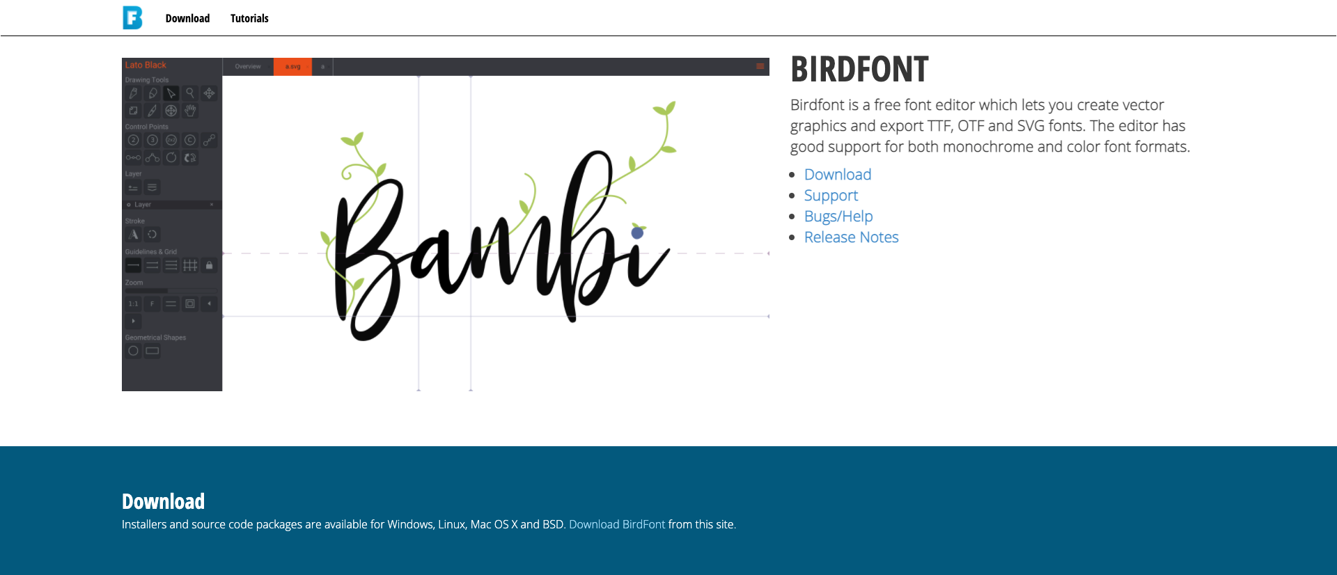 outils font