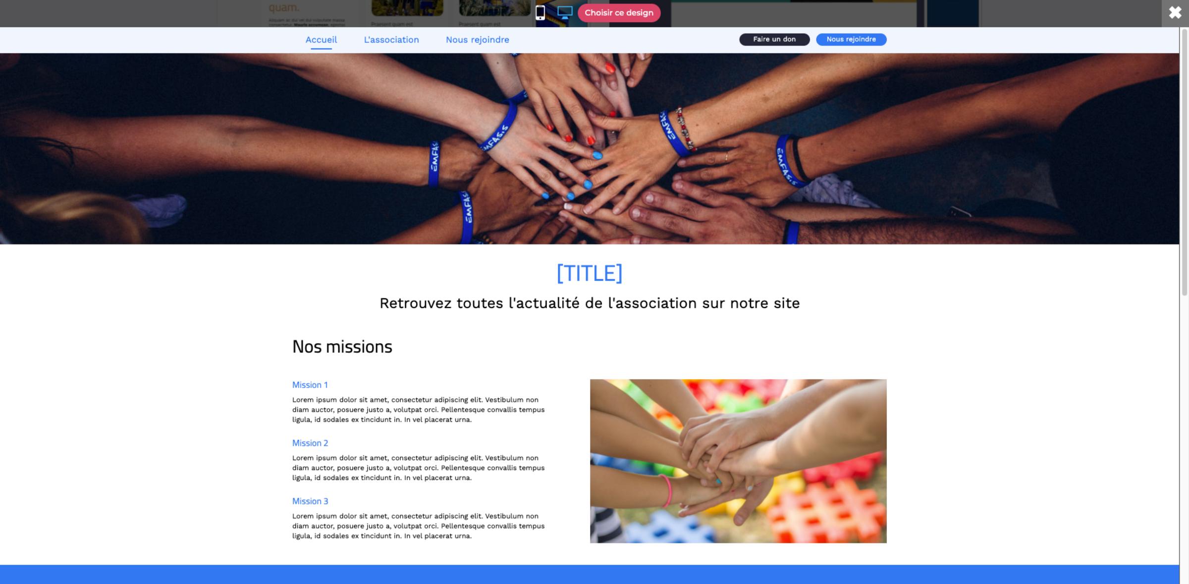 template association
