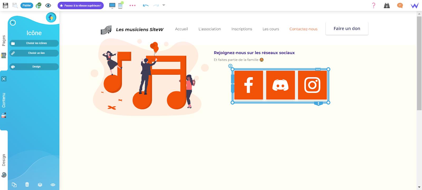 Création d'un site de musique
