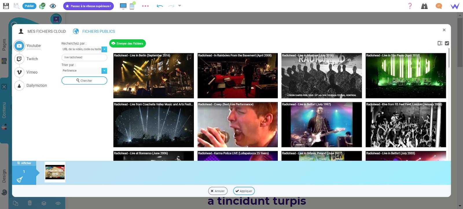 Vidéo site musique