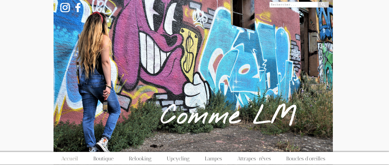 """E-boutique """"Comme LM"""" créée sur notre logiciel de web design 🙌"""