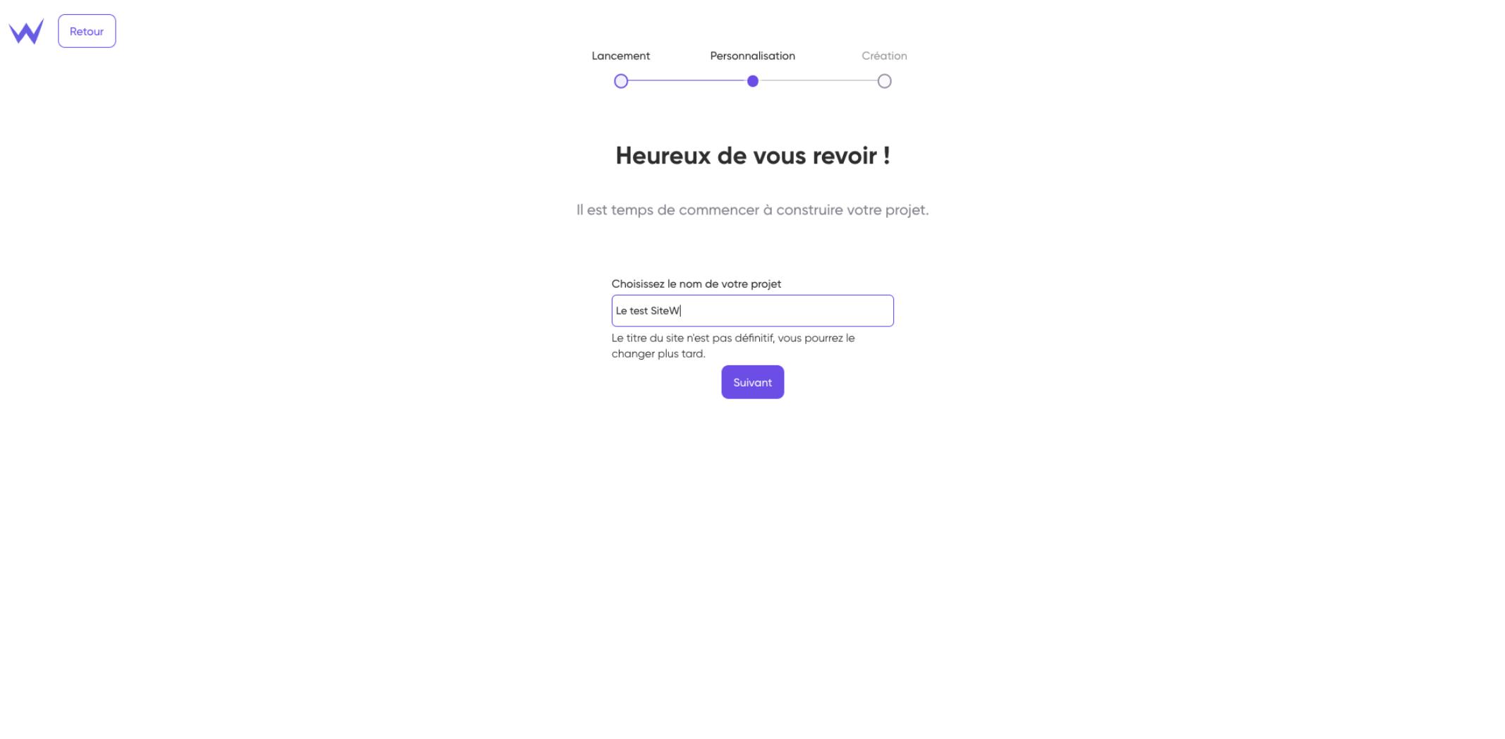 SiteW Créer un site