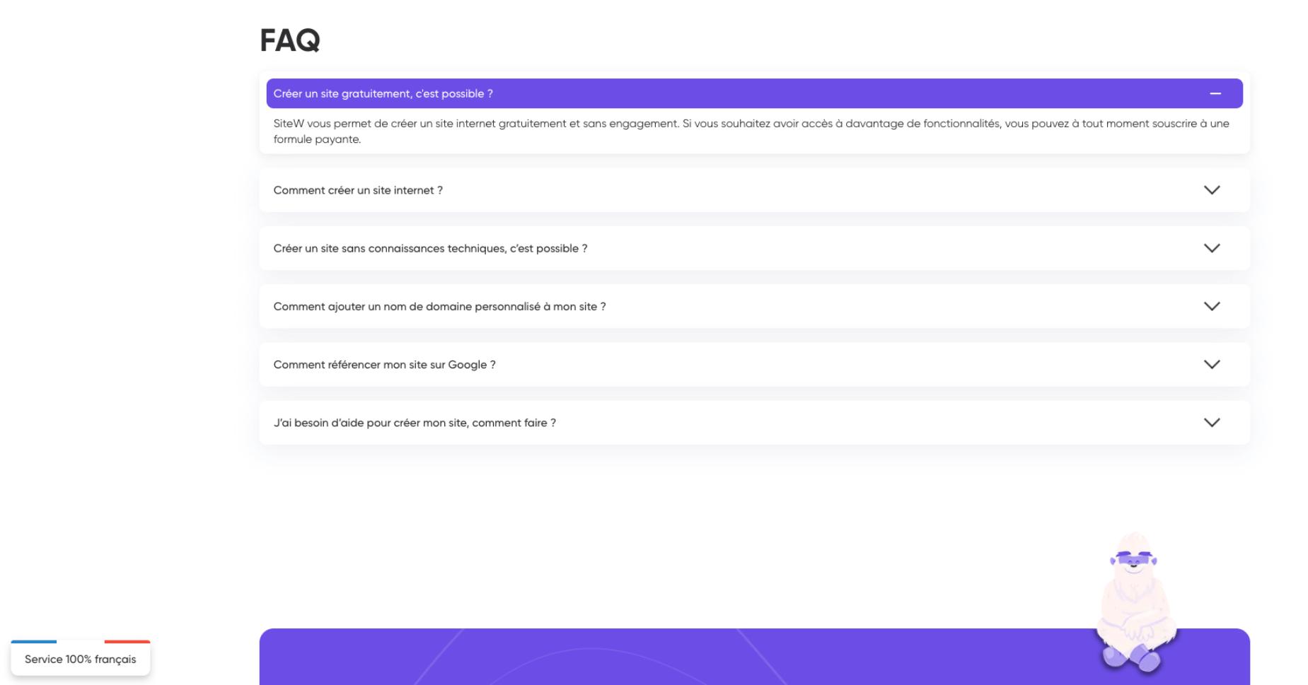 SiteW FAQ