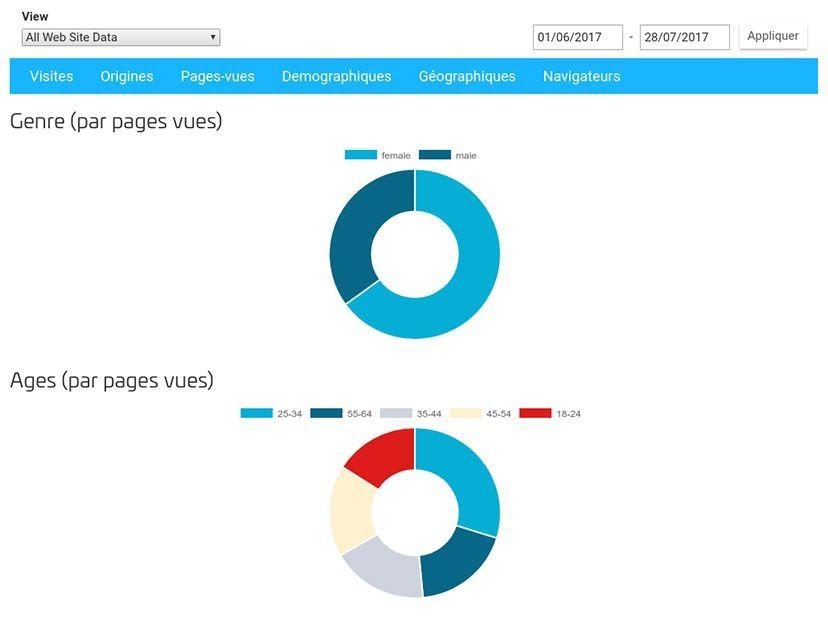 google analytics sitew