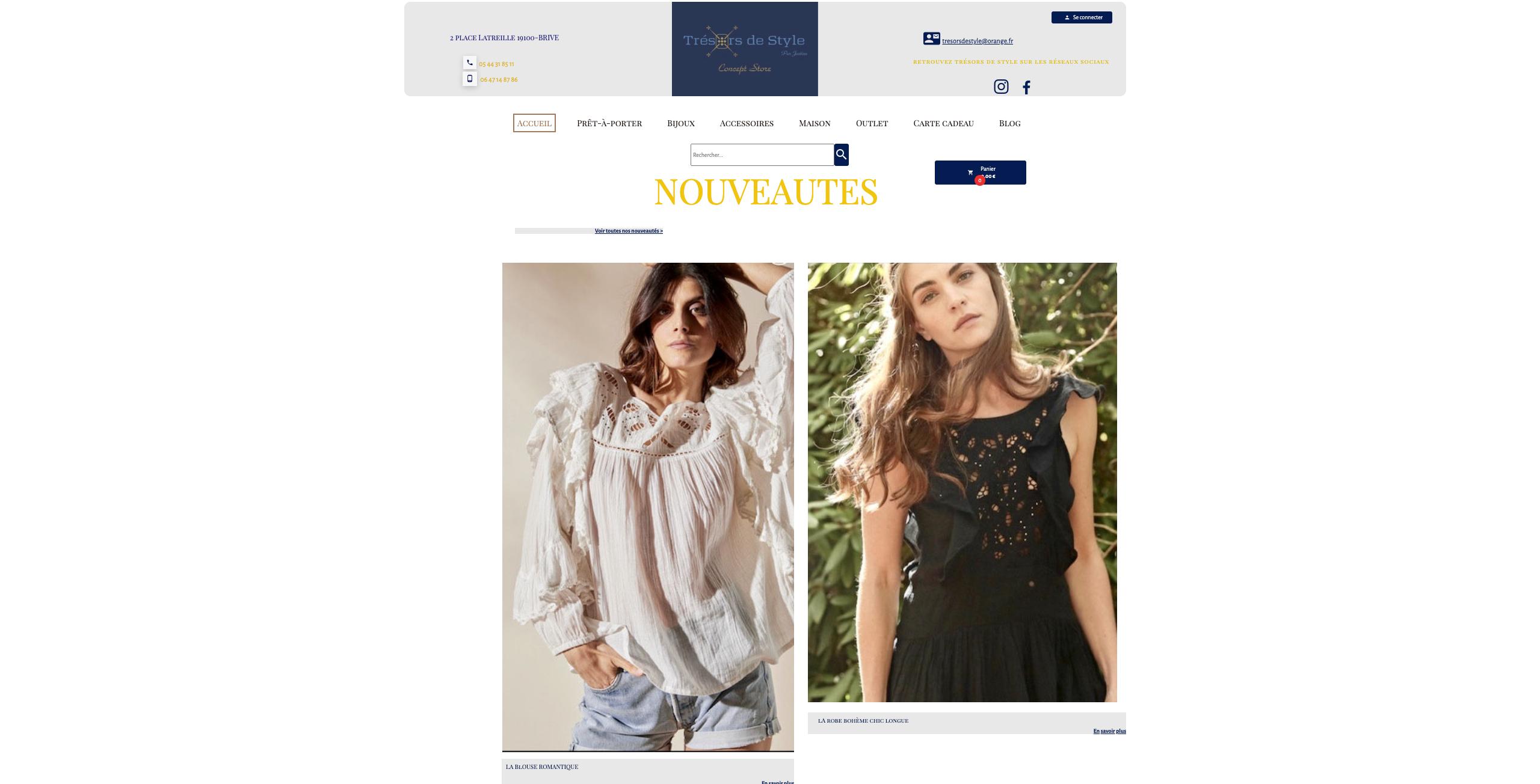 tresordestyle boutique en ligne