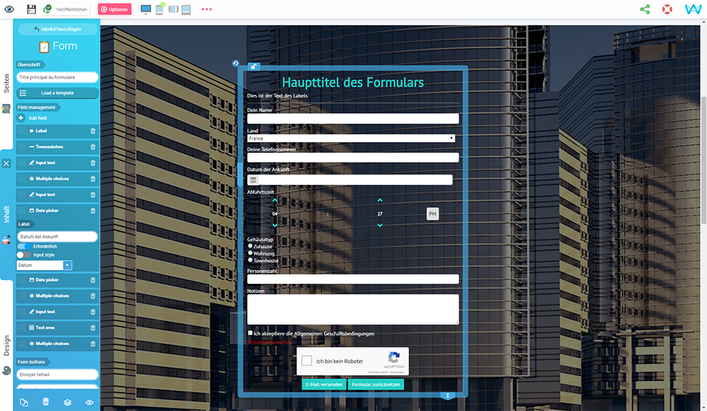 Benutzerdefinierte Felder, benutzerdefinierte Formulare