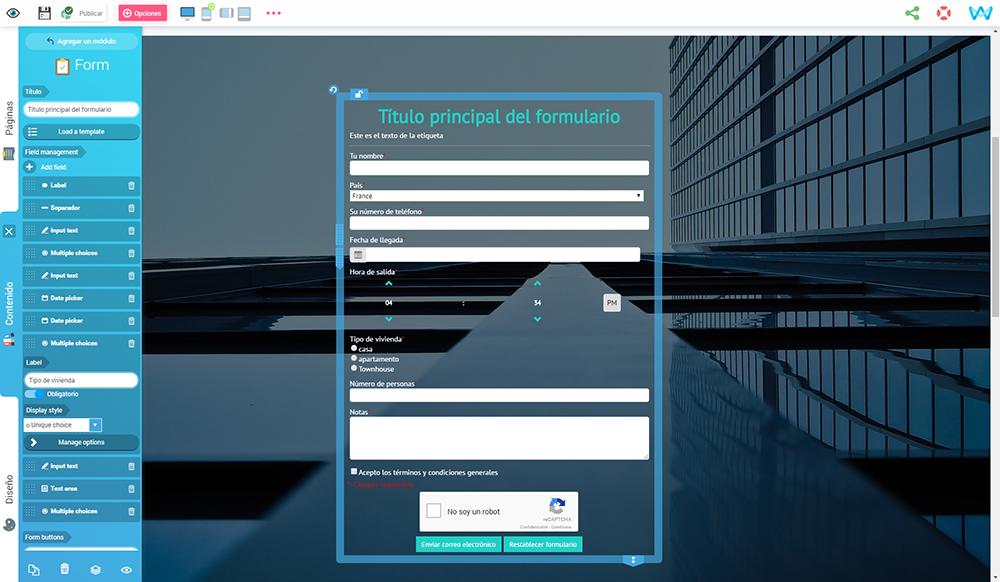 Campos personalizados, formularios personalizados