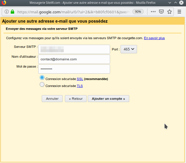 etape gmail