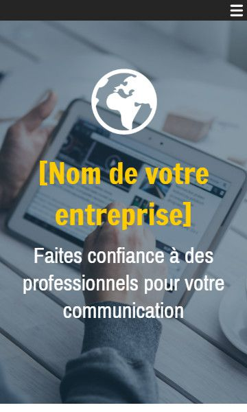 Mobile template for easy website creation of Agence de communication