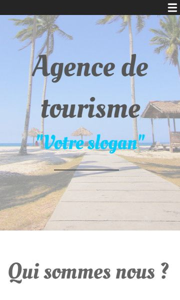 Mobile template for easy website creation of Agence de Voyages