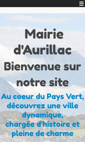Mobile template for easy website creation of Mairie