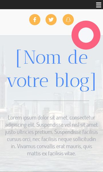Mobile template for easy website creation of Modèle Blog
