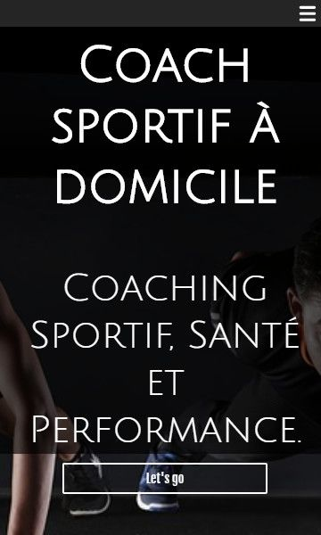 Mobile template for easy website creation of Coach sportif