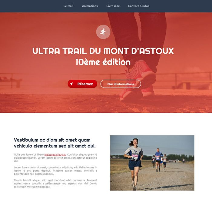 Template for website creation of red_one