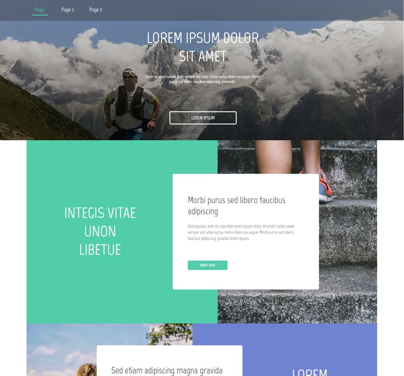 Theme for website creation of Run