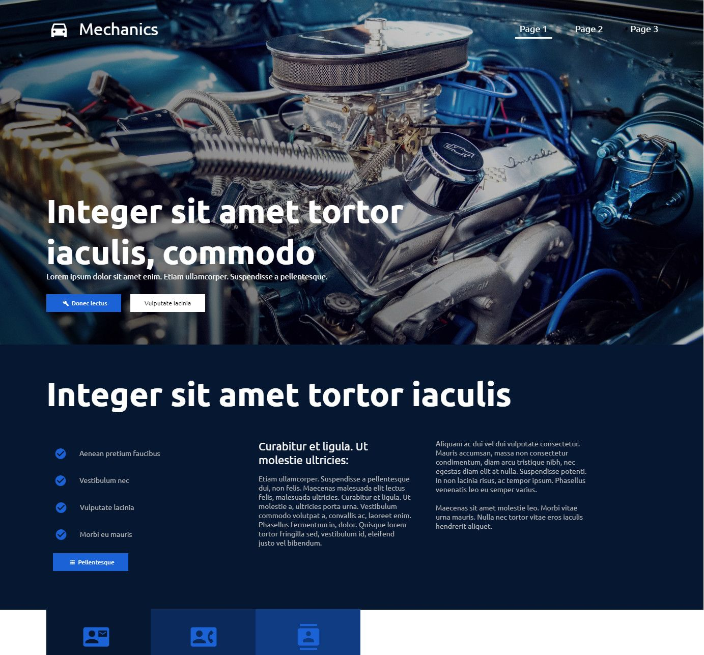Theme for website creation of Mechanics