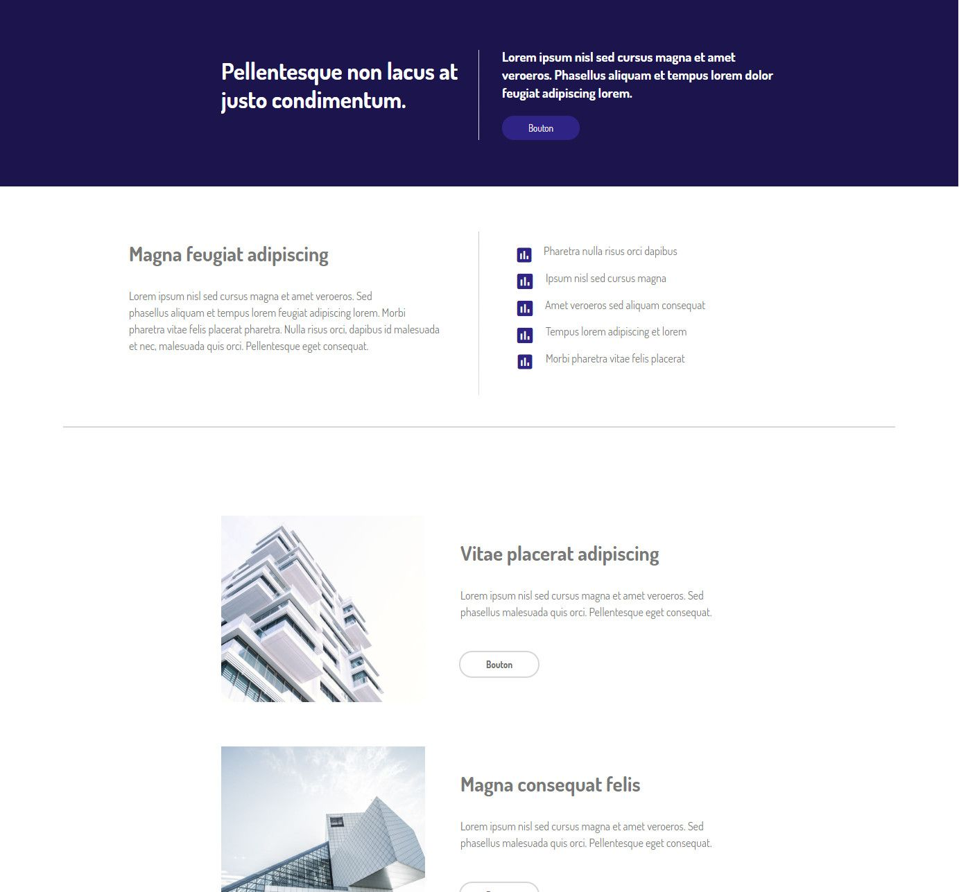 Theme for website creation of Prism