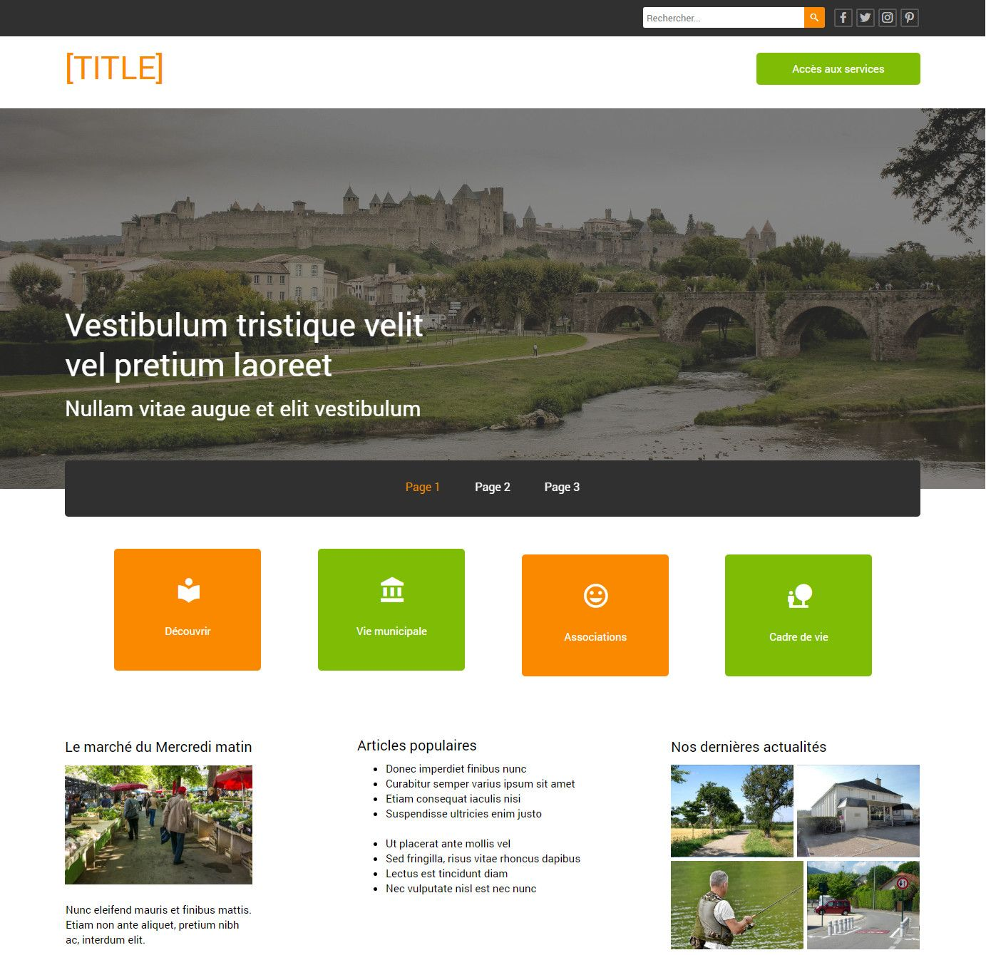Theme for website creation of Mairie 2