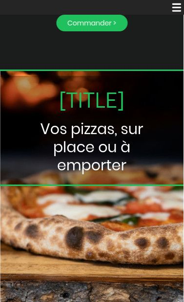 Mobile theme for easy website creation of Pizza