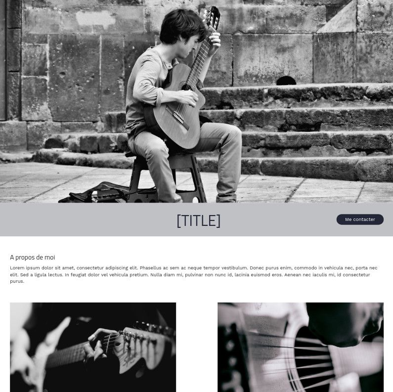 Theme for website creation of Chanteur