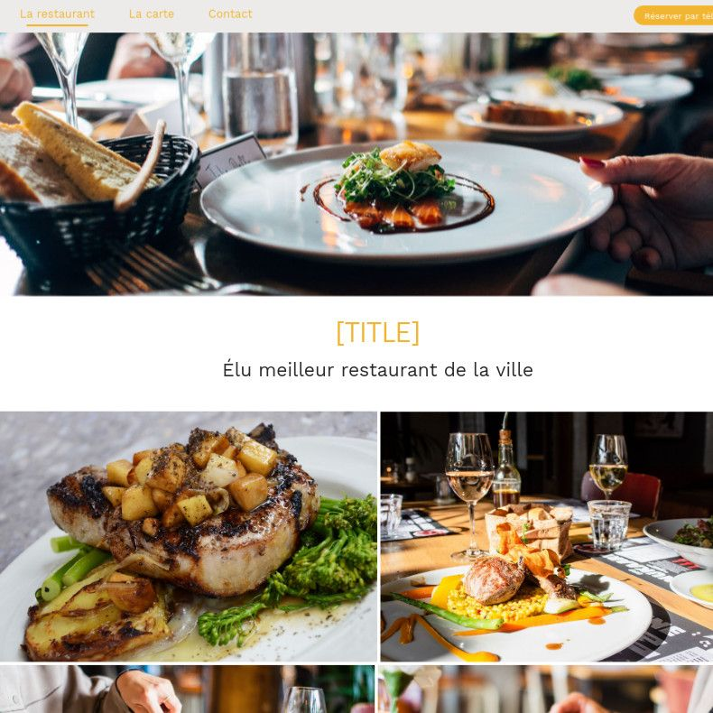 Theme for website creation of Food 2