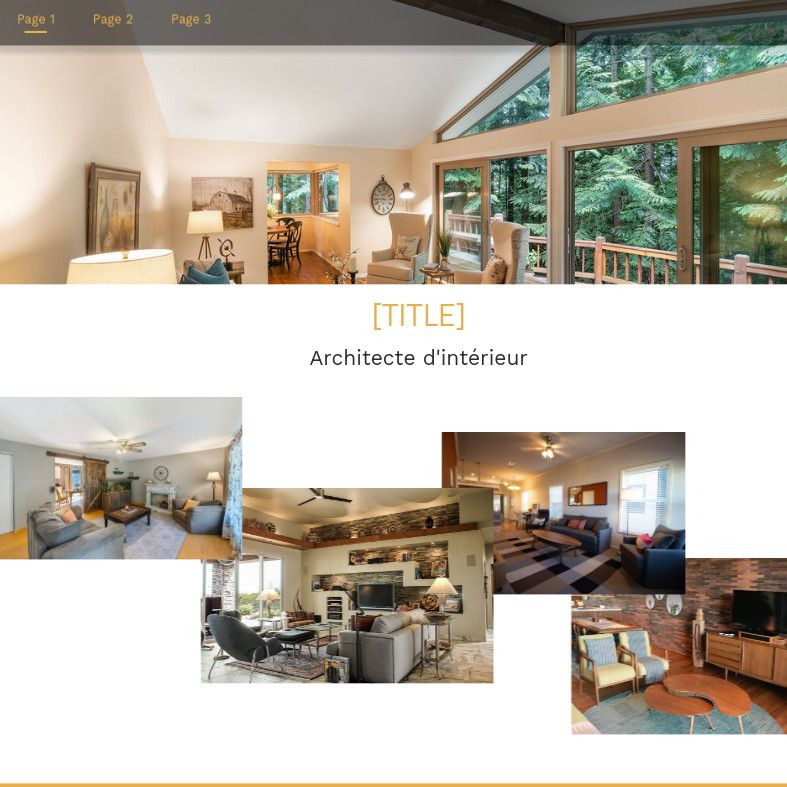 Theme for website creation of Architecte