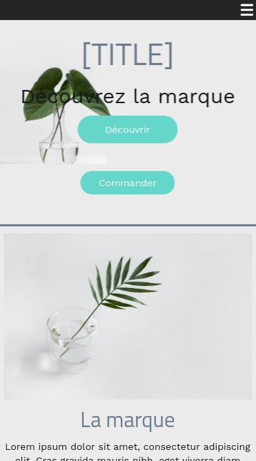 Mobile theme for easy website creation of Blanc