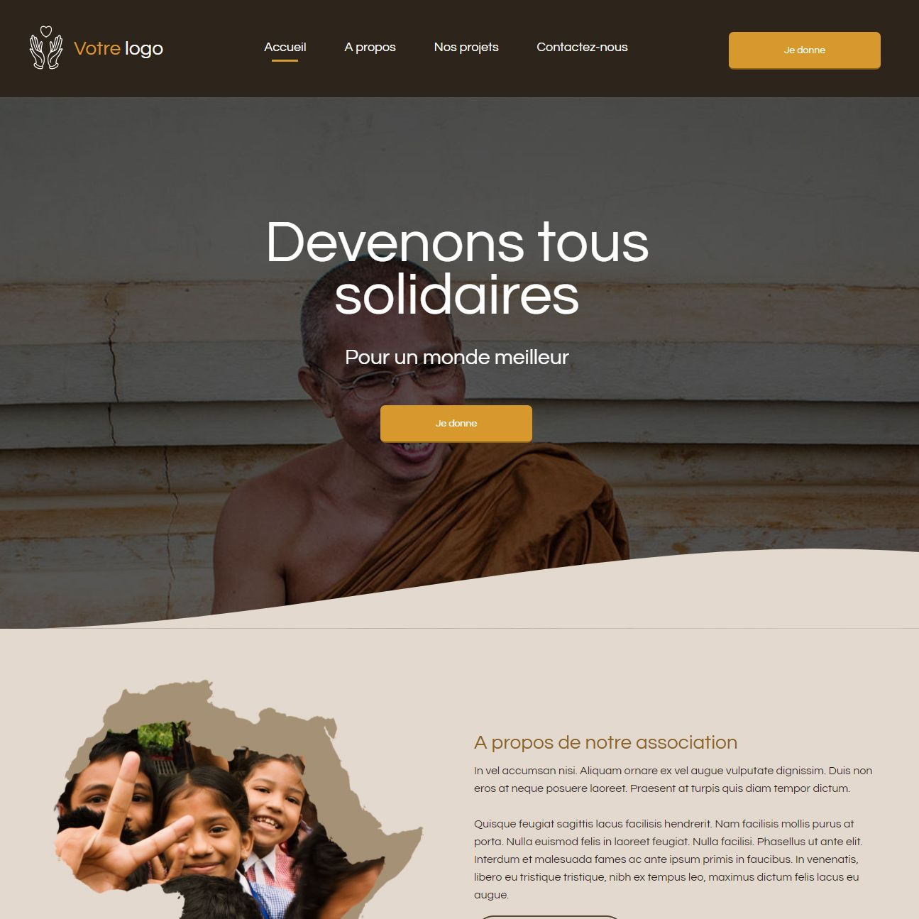 Theme for website creation of Charité