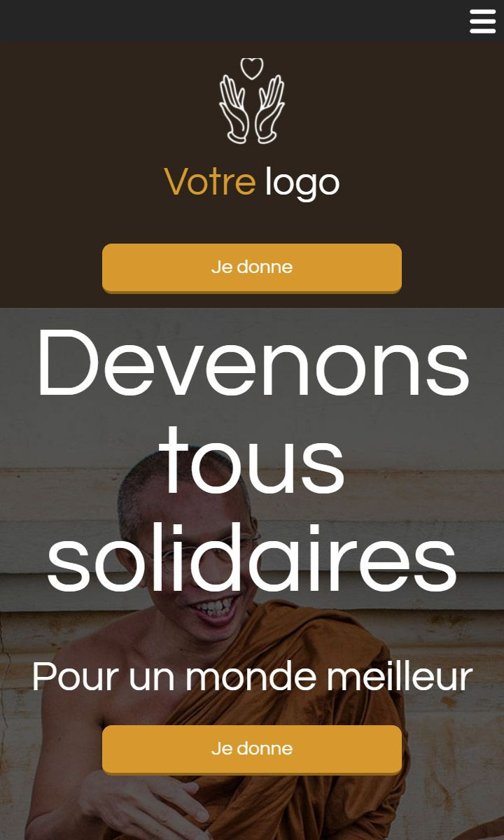 Mobile theme for easy website creation of Charité
